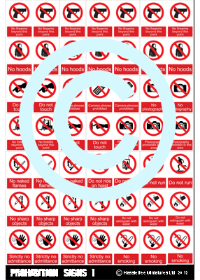 HFSTICKERS007 Prohibition Signs 1