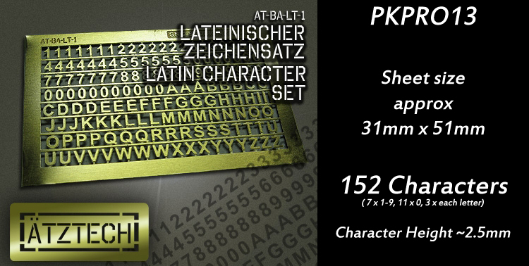HFPKPRO13 Latin Characters