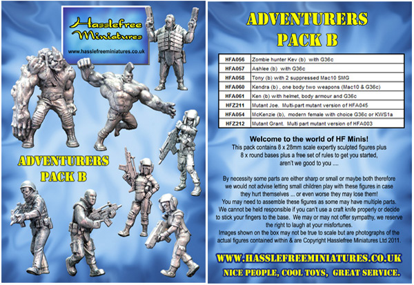 HFADVENTB Adventurers Pack B