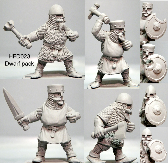 HFD023 Dwarf Pack/Hand Weapons
