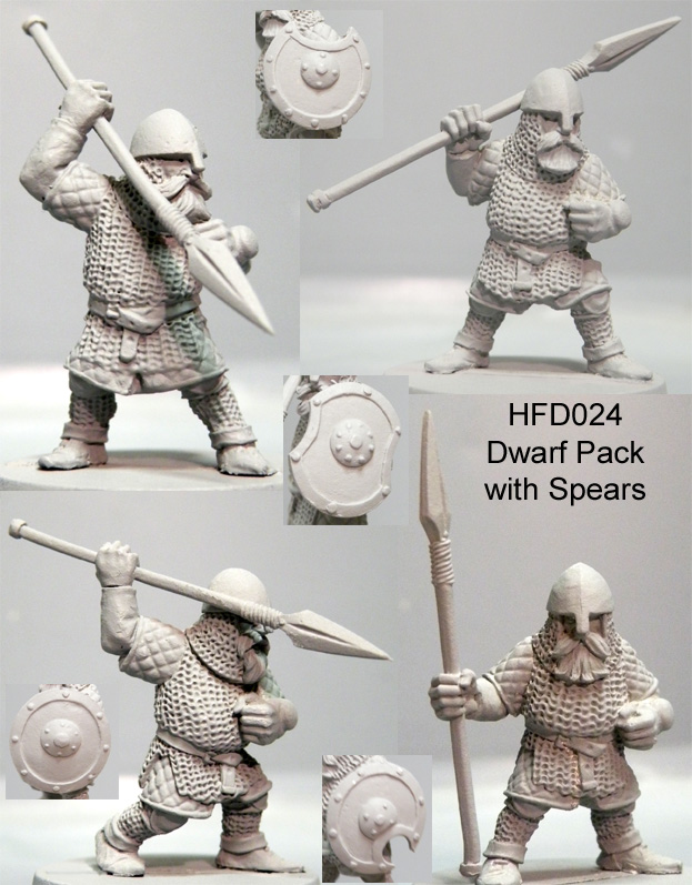 HFD024 Dwarf Pack/Spears