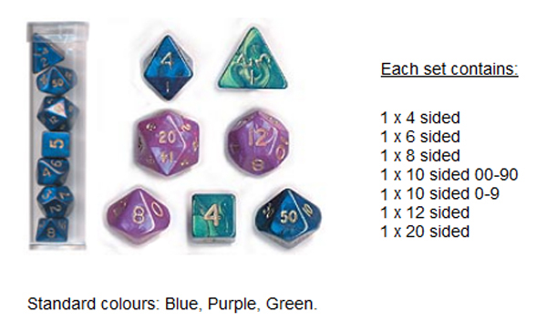HFTEENYBLUE Mini Blue Dice