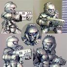 Light Infantry Squad  (Helmeted)