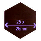 25mm Diameter Magnetic Hexagon