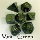 HFTEENYGREEN Mini Green Dice