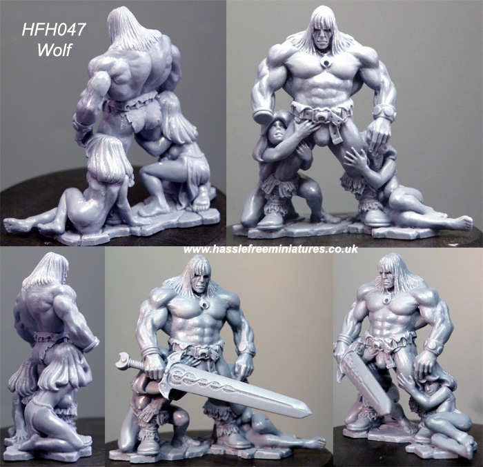 HFH047B Wolf the King (resin)