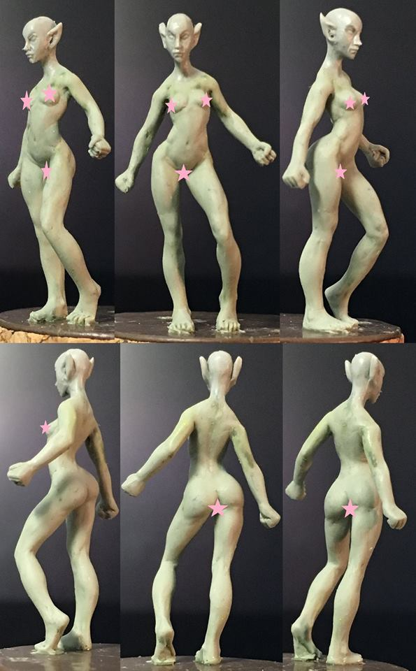 HFMASTER L630 Resin Master - Female Elf Dolly