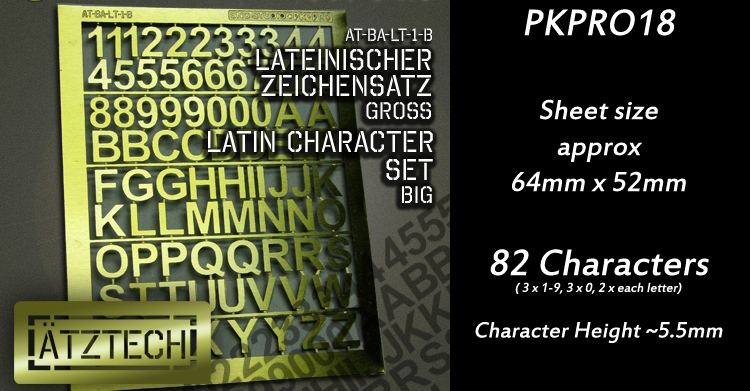 HFPKPRO18 Latin Characters - Large
