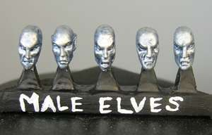HFL105 Male Elf Heads