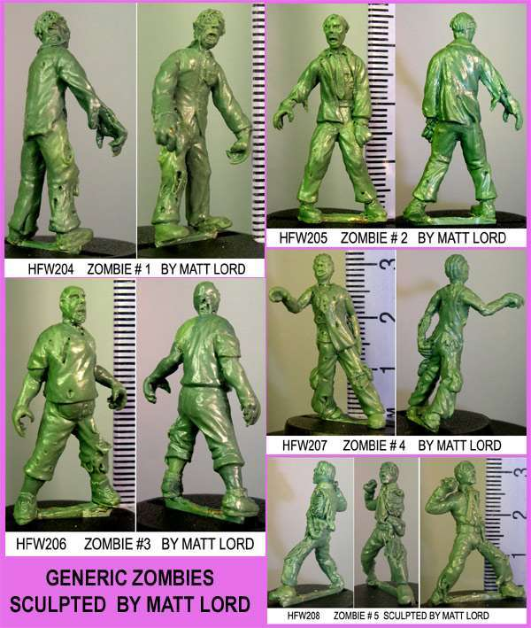 HFZ214 Pack of 5 zombies