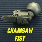 HFG543 Powered Armour - Left Arm 4 - Chainsaw Fist